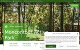 screenshot http://www.moncontour-active-park.com camping 4 étoiles moncontour - poitou charentes
