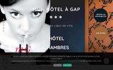 screenshot http://www.monhotelagap.com Mon Hôtel à Gap