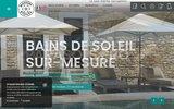 screenshot http://www.mousses-etoiles.com/ coussins sur mesure