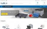 screenshot http://www.multiroir.com/ fabrication et vente de rangement et de boites plastiques