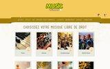 screenshot http://www.musicscreen.be Musique libre de droit