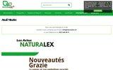 screenshot http://www.naturalex.ch distributeur de produits bio en suisse