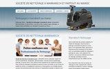 screenshot http://www.nettoyagemaroc.com Société de nettoyage maroc