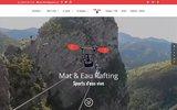 screenshot http://www.nicerafting.com mateau sport d'eau vive