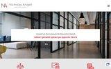 screenshot http://www.nicholasangell.com cabinet de recrutement nicholas angell