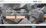 screenshot http://www.noblema.com/ pavés anciens et de qualité avec noblema