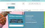 screenshot http://www.objets-pub-express.com objets pub express votre délai est le notre ®