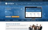 screenshot http://www.odenti.com/ odenti : creation site internet professionnel, référencement de site web, progiciel de gestion, agence web multimedia