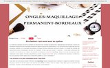 screenshot http://www.ongles-maquillage-permanent-bordeaux.fr maquillage permanent à bordeaux