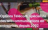 screenshot http://www.optionstelecom.fr/ Téléphonie d'entreprise