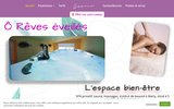 screenshot http://www.oreveseveilles.com détente et relaxation à valenciennes : sauna, hammam, jacuzzi, massages