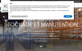 screenshot http://www.paillet-manutention.fr rayonnage, stockage atelier