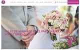 screenshot http://www.palais91.com Location salle