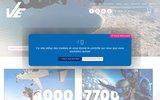 screenshot http://www.parachutisme-vendee.com parachutisme dans les pays de la loire. 85