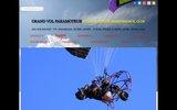 screenshot http://www.paramoteur-ecole-paris.fr grand vol paramoteur, école dans le val d'oise