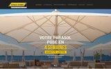 screenshot http://www.parasol-terrasse.com/ Parasol design