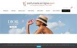 screenshot http://www.parfumerie-en-ligne.com/ Vente en ligne de parfums de marque