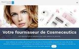 screenshot http://www.pascaljourdan-cosmetics.com Fournisseur de matériel cosmétique