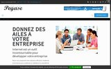 screenshot http://www.pegase-13.fr pegase 13, gestion administrative et secrétariat