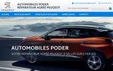 screenshot http://www.peugeot-poder.com Automobiles Poder
