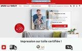 screenshot http://www.photo-sur-toile.fr/ La photo sur toile d'artiste à partir de 9 €