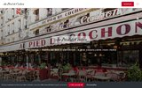 screenshot http://www.pieddecochon.com restaurant au pied de cochon