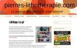 screenshot http://www.pierres-lithotherapie.com la médecine douce grâce aux pierres