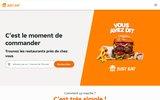 screenshot http://www.pizza.fr livraison de repas à domicile