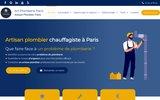 screenshot http://www.plombier-paris-artisans.fr Plombier et débouchage de canalisation à Paris