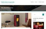 screenshot http://www.poele-bois-granule.fr vente et installation de poêles à bois  granulés