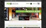 screenshot http://www.pogzmedia.com stand d'exposition