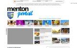 screenshot http://www.portail-menton.com/ portail photo et vidéo de menton, alpes maritimes