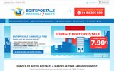 screenshot http://www.postissimo.fr Boîte postale sur internet pour particuliers et professionnels