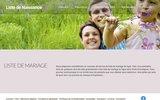 screenshot http://www.projets-a2.com liste de mariage marseille nice