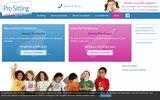 screenshot http://www.prositting.com pro sitting : garde d'enfant à domicile en idf.