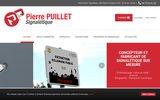 screenshot http://www.puillet.fr fabrication de plaques de signalétique
