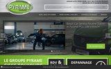 screenshot http://www.pyrame.fr groupe pyrame : vente de pneus à aix