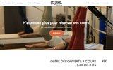 screenshot http://www.qee.fr cours de yoga : qee centre de pratiques douces