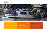 screenshot http://www.quai55.com/ Quai 55 : Location de péniches et dîner sur croisière