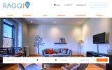 screenshot http://www.ragq.com Trouvez votre location meublée à Montréal