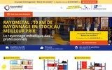 screenshot http://www.rayometal.fr Rayonnage industriel