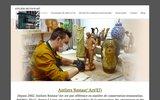 screenshot http://www.restaurationdart.com ateliers restaur'art lyon rhône