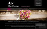 screenshot http://www.reve-passion.fr/ rêve passion: fleuriste decoratrice