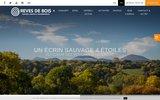 screenshot http://www.reves-de-bois.fr gite puy de dome
