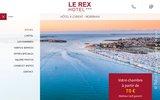 screenshot http://www.rex-hotel-lorient.com hotel 2 étoiles dans le centre de Lorient
