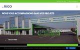 screenshot http://www.rigo-chauffage-clim.com chauffage électrique, radiateur à chaleur douce, rayonnant marmande, bazas, agen, villeneuve-sur-lot