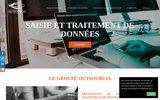 screenshot http://www.saisie-donnees.fr saisie de données et traitement de données