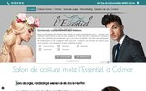 screenshot http://www.salon-essentiel.com salo de coiffure ,maquillage isère