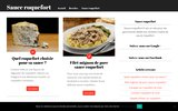 screenshot http://www.sauce-roquefort.fr Préparer une sauce roquefort