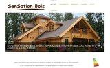 screenshot http://www.sensationbois.com/ maisons en bois